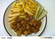 """Jednoduchá rychlá kuřecí """"čína"""" recept - TopRecepty.cz Kung Pao Chicken, Chili, Chicken Recipes, Beef, Cooking, Ethnic Recipes, Food, Meat, Kitchen"""
