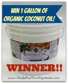 Coconut Oil Giveaway Winner! @ Healy Real Food Vegetarian
