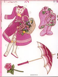 (⑅ ॣ•͈ᴗ•͈ ॣ)♡                                                             ✄Peppermint Rose paper doll card #4