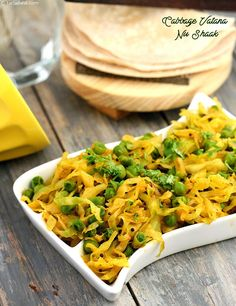 Cabbage Vatana Nu Shaak Is An Easy And Quick Vegetable Recipe With The Combination Of Two Regularly Used Vegetables In This Shaak Cabbage And Green Peas