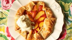Peach Crostata with Bootlegger's Sabayon