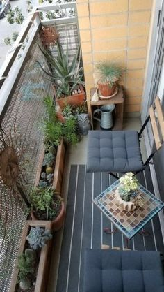 Amazing Small Balcony Ideas To Make Your Apartment Look Great. Below are the Small Balcony Ideas To Make Your Apartment Look Great. This post about Small Balcony Ideas To Make Small Balcony Design, Small Balcony Garden, Narrow Balcony, Small Balcony Decor, Balcony Plants, Small Balcony Furniture, Terrace Design, Modern Balcony, Small Balconies
