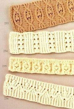 Схемы резинок спицами ... Подборка схем для вязания резинок спицами.
