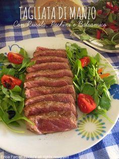 Ogni riccio un pasticcio - Blog di cucina: Come preparare un ottima tagliata - Tagliata con rucola, pachini e balsamico