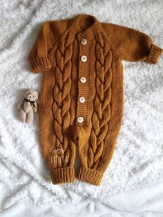 Items similar to Hand knitted romper months. on Etsy Hand knitted romper months Knitted baby clothes Knit wool baby Jumpsuit Baby girl boy knitted ju Always aspired to b. Winter Baby Clothes, Knitted Baby Clothes, Knitted Romper, Baby Knitting Free, Knitting Patterns Boys, Baby Outfits, Baby Overall, Baby Jumpsuit, Baby Clothes Patterns