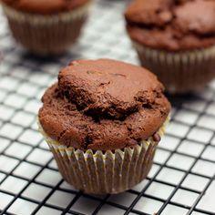 Whole-Grain Chocolate Zucchini Muffins – Gluten-free, Dairy-free & Nut-free