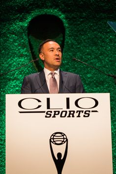 Mark Tatum, deputy commissioner and COO of the NBA, presented the inaugural Clio Sports Brand Icon Award, to Gatorade.
