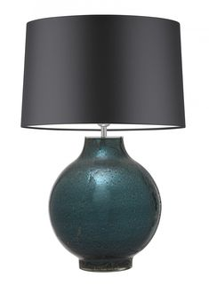 Pigalle Ocean Large Table Lamp - Heathfield & Co Cheap Table Lamps, Touch Table Lamps, Large Table Lamps, Keep The Lights On, Work Lights, Large Furniture, Drum Shade, Lampshades