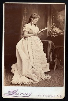 victorian dress gown photograph vintage Jane Coombs, ca. around 1870 vintage costume #timetravelcostumes @TimeTravelStyle