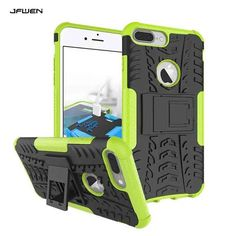 New Luxury Fundas For iphone 7 7 Plus Hard Case Back Cover Hybrid Stand Phone Cases For iphone 7 Armor Case