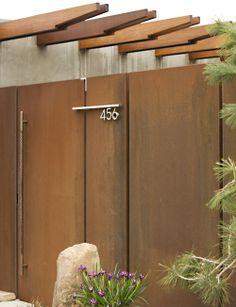 corten gate... modern