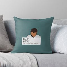 'Call Me by Your Name - Elio' Throw Pillow by fictiophilia Fandom Outfits, Your Name, Designer Throw Pillows, Pillow Design, Sell Your Art, Call Me, Vibrant, Names, Artist