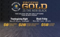 Gold Is the New Black for Pacers Black Friday | Indiana Pacers