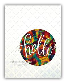 March My Monthly Hero Hello Card by Understand Blue