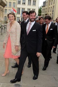 Prince héritier guillaume et princesse héritière Stéphanie