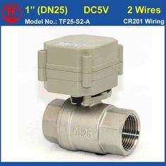 31.66$  Buy here - http://aliv74.shopchina.info/1/go.php?t=32672430073 - TF25-S2-A 2 Way Stainless Steel DN25 Full Port Electric Water Valve DC5V 2 Wires BSP/NPT 1'' Motorized Valve Metal Gear  #buychinaproducts