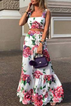 Fashion Sexy Women Printed Colour Braces High Waist Dress – maxi dress casual outfit,vacation maxi dress,womens long maxi dress,maxi dress summer casual,floral maxi dress Source by EBUYCHIC dresses Maxi Dress Summer, Casual Summer Dresses, Floral Maxi Dress, Long Summer Skirts, Dress Prom, Summer Outfits, Elegant Dresses, Sexy Dresses, Fashion Dresses