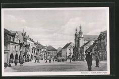 old postcard: AK Komotau / Chomutov, Adolf Hitler-Patz