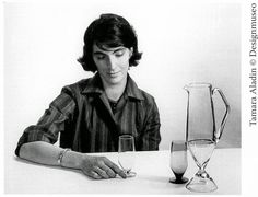 Tamara Aladin (1932-) in a Finnish designer. She worked for Riihimäen lasi Oy during 1959-1976.