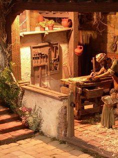 belenistas de la Isla. Fotos                                                                                                                                                                                 Más Christmas Nativity Scene, Christmas Crafts, Journey To Bethlehem, Fontanini Nativity, Ancient Egypt Art, Miniature Houses, Religious Art, Beautiful Christmas, Seasonal Decor