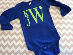 Baby Boy Monogram Bodysuit by kissedwithcreativity on Etsy, $15.00