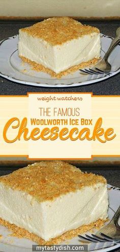 The Famous Woolworth Ice Box Cheesecake Light and refreshing icebox dessert made famous by Woolworth's lunch counter back in the but now, with this recipe, you can make Woolworth's Famous Icebox Cheesecake in the comfort Icebox Desserts, No Bake Desserts, Easy Desserts, Delicious Desserts, Dessert Recipes, Yummy Food, Icebox Cake Recipes, Homemade Desserts, Delicious Dishes