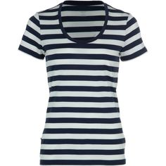 Icebreaker - Tech Lite Stripe Scoop Neck Shirt - Short-Sleeve - Women's - Admiral/Snow/Admiral
