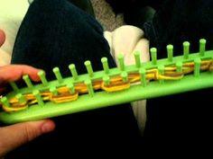chunky scarf (5-strand garter stitch) on a knitting loom (TAKE 2)