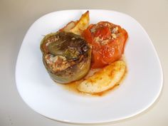 Gemista - Stuffed tomatoes and peppers|Greek Food