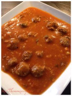 Oerhollandse tomatensoep met ballen