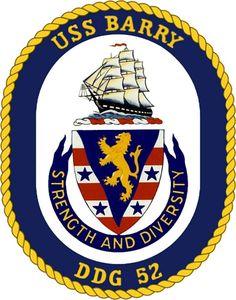 USS Barry (DDG 52) ship crest