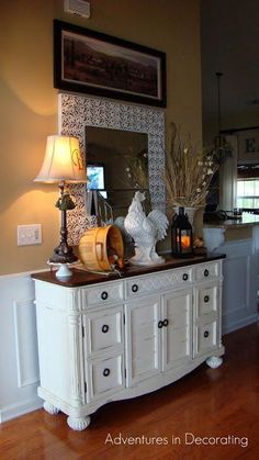 Love the dresser being used....! Entryway Design Ideas  : ENTRYWAY DECORATING IDEAS: FOYER DECORATING IDEAS: HOME DECORATING IDEAS