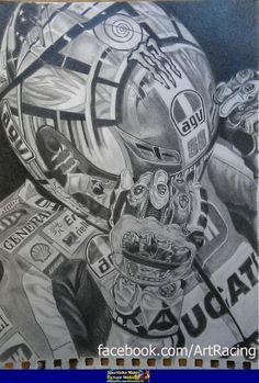 Valentino Rossi portrait pencil draw