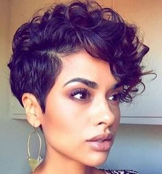 50 Bold Curly Pixie Cut Ideas To Transform Your Style Short Curly Hair Bold curly Cut Ideas Pixie Style Transform Pixie Cut Curly Hair, Curly Pixie Haircuts, Thin Curly Hair, Girl Short Hair, Curly Hair Styles, Straight Hair, Short Haircuts, Long Curly, Hair Color Pixie Cut