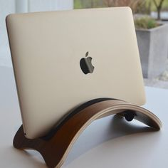 High-Quality Natural Wood Mac Stander