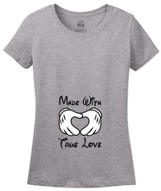 Made With True Love Pregnancy Announcement T-Shirt Disney Themed by HeartMyTees on Etsy