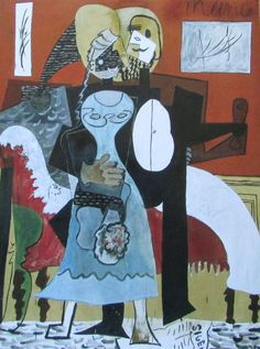 Die Verliebten Liebespaar PABLO PICASSO Kunstdruck Reproduktion Surrealismus