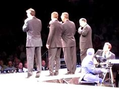 This performance was at the Great Western Fan Festival at the Visalia Convention Center in Visalia, California, on May 1, 2010.    All four singers in this quartet sing bass normally.  In this lineup, however, we have (from left to right):  Glenn Dustin (Legacy Five) on tenor; Eric Bennett (Triumphant Quartet) on lead; Royce Mitchell (Liberty Qu...