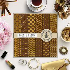 Arrow Pattern, Scrapbook Paper, Scrapbooking, Life Planner, Planner Stickers, Black Gold, Clip Art, Etsy Shop, Digital