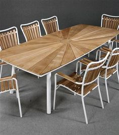 Lot: 2081508DaneLine garden furniture. Table and eight armchairs, teak (9)