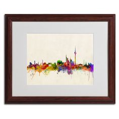Berlin Germany by Michael Tompsett Matted Framed Painting Print