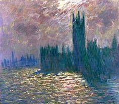 bofransson:    Claude Monet - Londres le parlement reflets sur la tamise - 1905