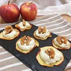Esta receta de Chips de Manzana con Queso y Nueces es facilísima de preparar porque usamos el microondas para preparar las chips en pocos minutos.