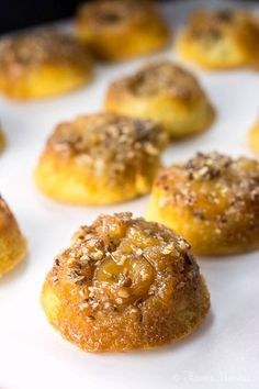 Bananas Foster Upside Down Cupcakes are easy to make upside down cupcakes made with bananas instead of pineapple, and are a perfect mini dessert for Mardi Gras (aka Fat Tuesday) or any party.