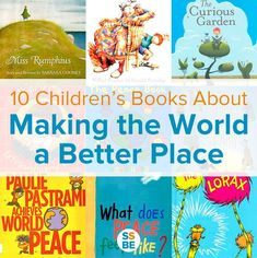 Inspire our future generation with children's books about making the world a better place. Teach empathy, kindness to others and taking care of our world. These 10 children's books about making the world a better place will inspire your little ones to do Summer Reading 2017, Summer Reading Program, 2017 Summer, Preschool Books, Book Activities, Sequencing Activities, Kids Reading, Teaching Reading, Learning
