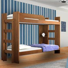 Double Bunk Beds, Bunk Bed With Trundle, At Home Furniture Store, Kids Room Design, New Room, Modern Bedroom, Sofa Bed, Kids Bedroom, House