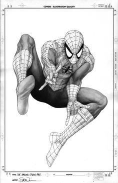 This is the art I did for the cover corner box during my Amazing Spider-man brand new day arc. I have always loved the corner box art on comics! By Steve McNiven.