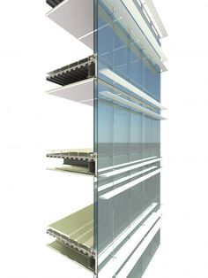 Beijing cbd materials, surfaces and screens curtain wall detail, facade arc Building Skin, Glass Building, Building Facade, Building Design, Curtain Wall Detail, Glass Curtain Wall, Wall Section Detail, Sectional Perspective, Detail Architecture