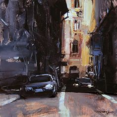 Downtown Passage by artist Tibor Nagy. #urbanart found on the FASO Daily Art Show- http://dailyartshow.faso.com