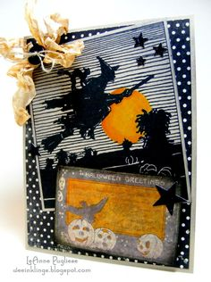 DIY Witch Halloween Card, which was shared by LeAnne. She was inspired by the Halloween Graphics on The Graphics Fairy,
